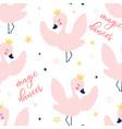 ballet swan seamless pattern print design vector image