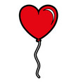 balloon air with heart shape vector image vector image