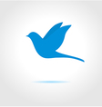 Blue bird on gray background vector image