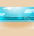 blue ocean landscape background design vector image