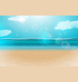 blue ocean landscape background design with vector image