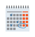 calendar with handmade marks vector image vector image
