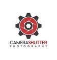 camera shutter gear logo icon symbols vector image vector image