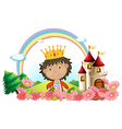 Cartoon Castle King vector image vector image
