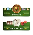 Casino Banners Set vector image