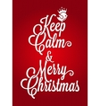 christmas vintage lettering card background vector image