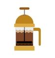 coffee grinding jarra with crank vector image