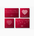 collection of happy valentines day cards vector image