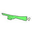 comic cartoon pointing zombie arm vector image