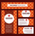 corporate identity design with chinese pattern vector image