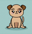 cute and lovely dog cartoon vector image