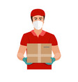 delivery goods during prevention of vector image
