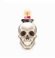 dia de los muertos day of dead skull candle vector image