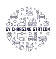 ev charging station round in vector image vector image
