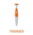 female shaving trimmer isolated on white vector image