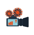 film projector over white vector image vector image