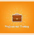 flat icon briefcase professional training vector image