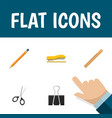 flat icon stationery set of straightedge clippers vector image vector image