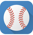 flat icon toy leather baseball ball vector image