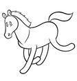funny running horse vector image vector image