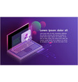 futuristic smartsecurity controls technology vector image vector image