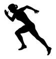 girl athlete runner starting running vector image vector image
