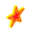 Gold star with red insert icon isometric 3d style vector image vector image