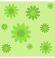 green flowers on green texture background vector image