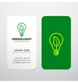 Green Light Realistic Business Cards vector image vector image