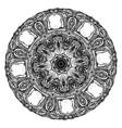 grunge decorative mandala vector image vector image