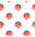 hand drawing strawberry pattern vector image vector image