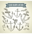 Hand drawn anchor Set of vector image vector image