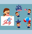 happy independence day greeting card vector image vector image