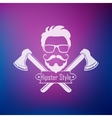 Hipster style label vector image vector image
