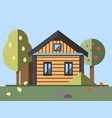 house whith garden in flat style vector image