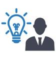 idea strategy icon vector image vector image