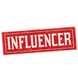 influencer sign or stamp vector image vector image