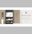 Interior design Modern bathroom background 3 vector image vector image