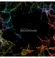 Iridescent Plexus Lines And Particles Background vector image vector image