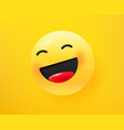 laugh loudly emoticon 3d comic style editable vector image