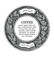 logo coffee shop and coffee product label hand vector image vector image