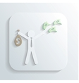 man money bag icon vector image vector image