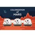 Mars Colonizations Coloni vector image vector image