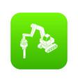 medium drill truck icon green vector image vector image