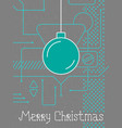 merry christmas techno line art bakcground vector image vector image