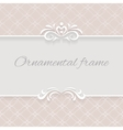 Paper lace background ornamental frame vector image