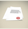 paper on a beige background mock up rubber stamp vector image vector image