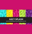 parallelogram pattern set juicy splash seamless vector image vector image
