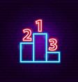pedestal neon sign vector image vector image