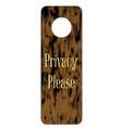 Privacy please door knob sign